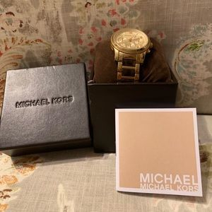 Michael Kors gold and tortoise watch